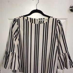 Alice + Olivia Striped Top | Color: Black/White
